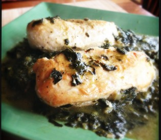 Chicken with Sorrel and Ramps